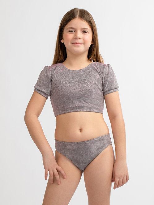 Glitter Half sleeve bikini