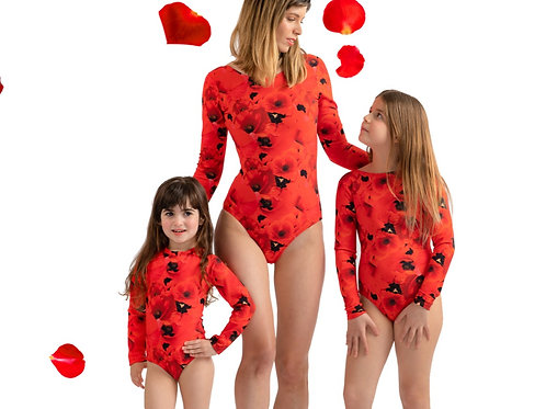 מינימי אמא ובת שלם הדפס Red Poppy