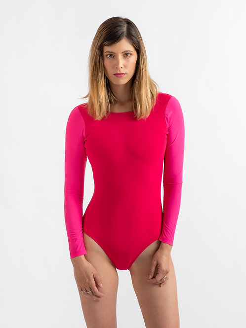 LIRON Pink long sleeves one piece