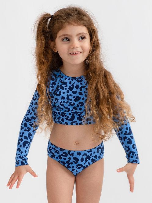 Blue Tiger long sleeves bikini