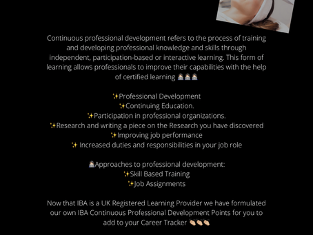 IBA Continuous Professional Development Points