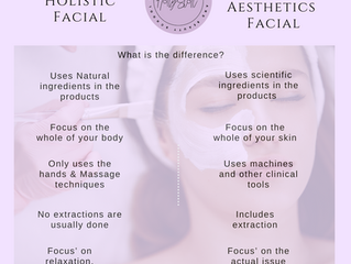 What is the difference between a Holistic & Advanced Aesthetics Facial?