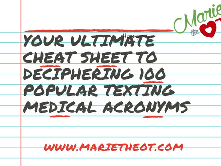 Your ultimate cheat sheet to deciphering 100 popular texting medical acronyms