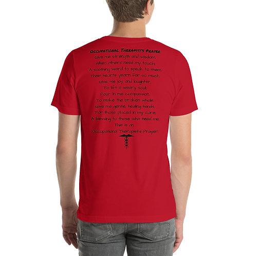 Camiseta unisex Oración del terapeuta ocupacional de manga corta