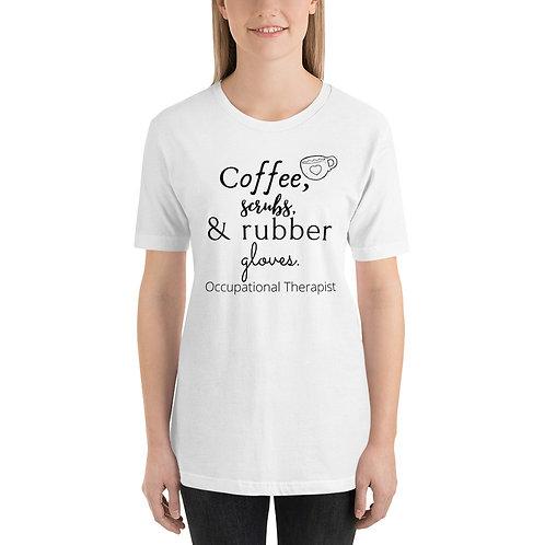 Camiseta unisex Terapeuta ocupacional versus médico de manga corta