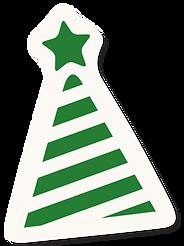 chapeau de fête vert