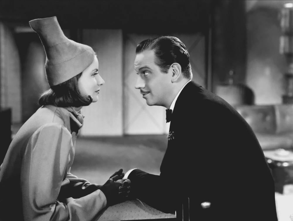 Greta Garbo wearing silly hat. Ninotchka, 1939.