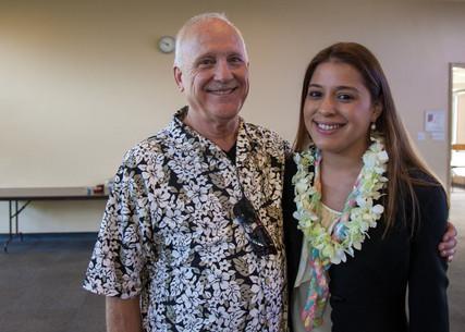 Executive Director Tim Mayworm with Judena
