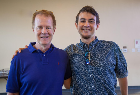 Board of Directors member Mark Rice with Zarkhi Palmer, a recent USC Music Business Grad