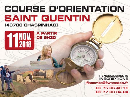 Course d'orientation à St Quentin