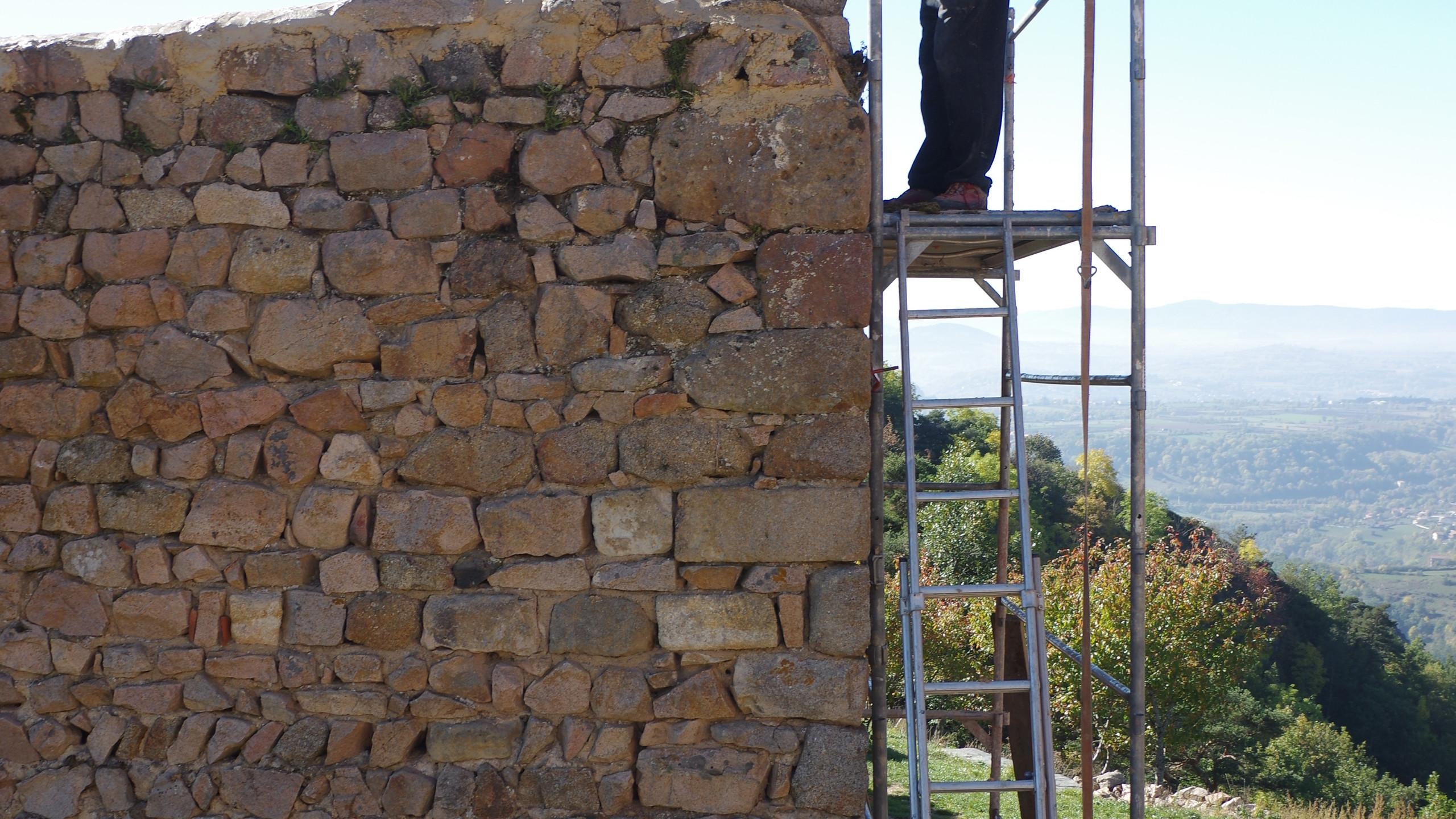 Cristallisation du mur
