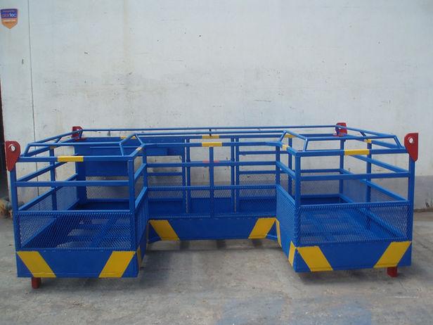 Plataforma de elevação Bailéu 2 pessoas em [U] para soldadura de estacas marítimas