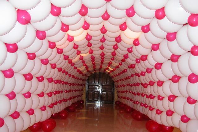 túnel con globos