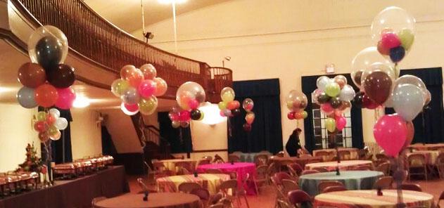 bajada de techo con globos