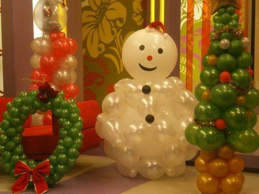 navidad con globos