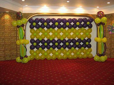 pared con globos