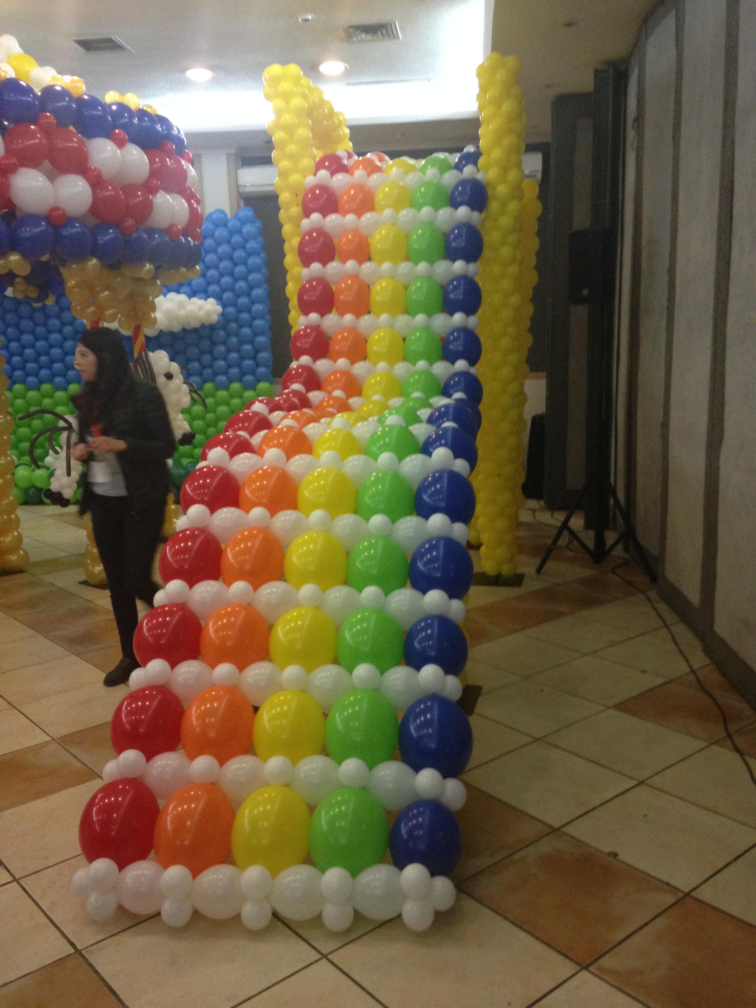 tobogan con globos