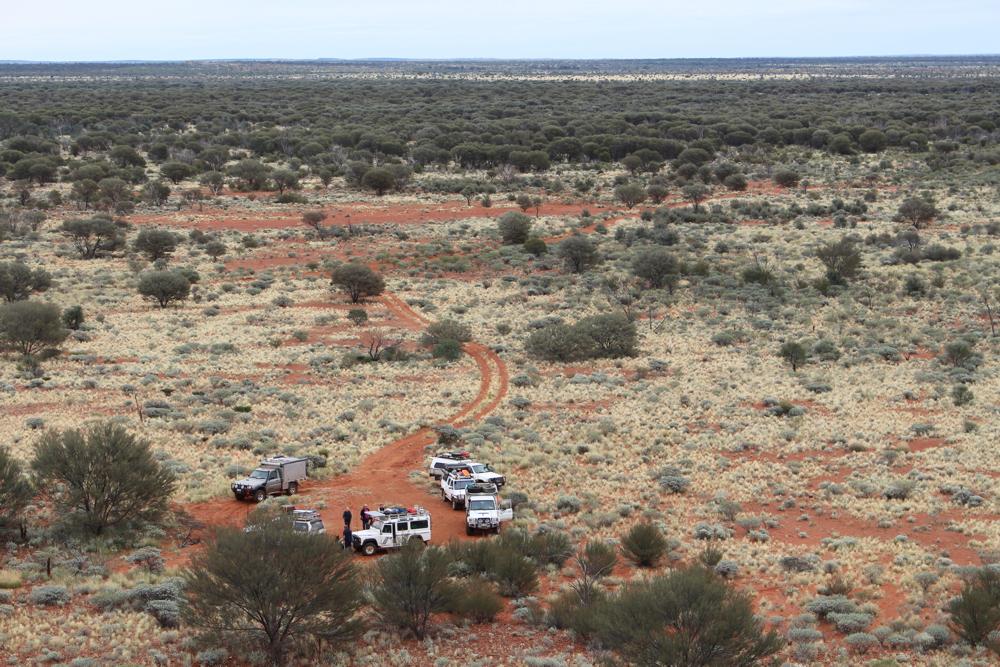 Jan Godfrey - Circling Wagons Simpson Desert