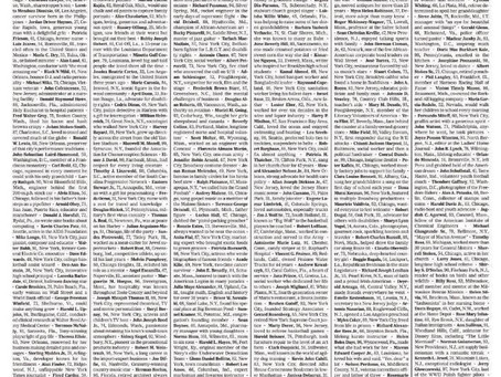 New York Times Devotion to COVID-19 Victims
