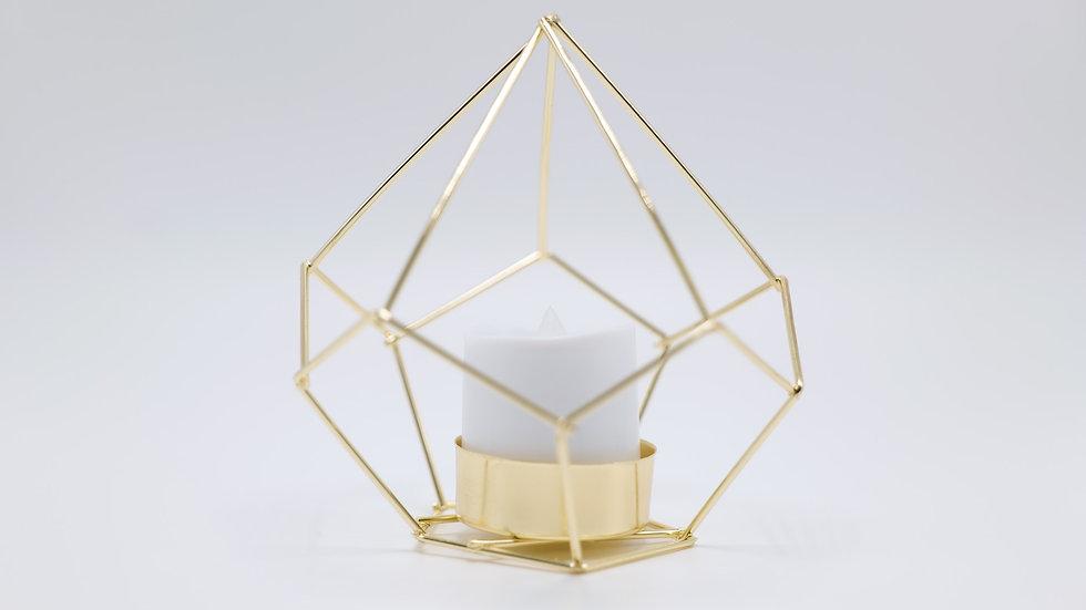 Gold Geometric Candle Holder - Rental