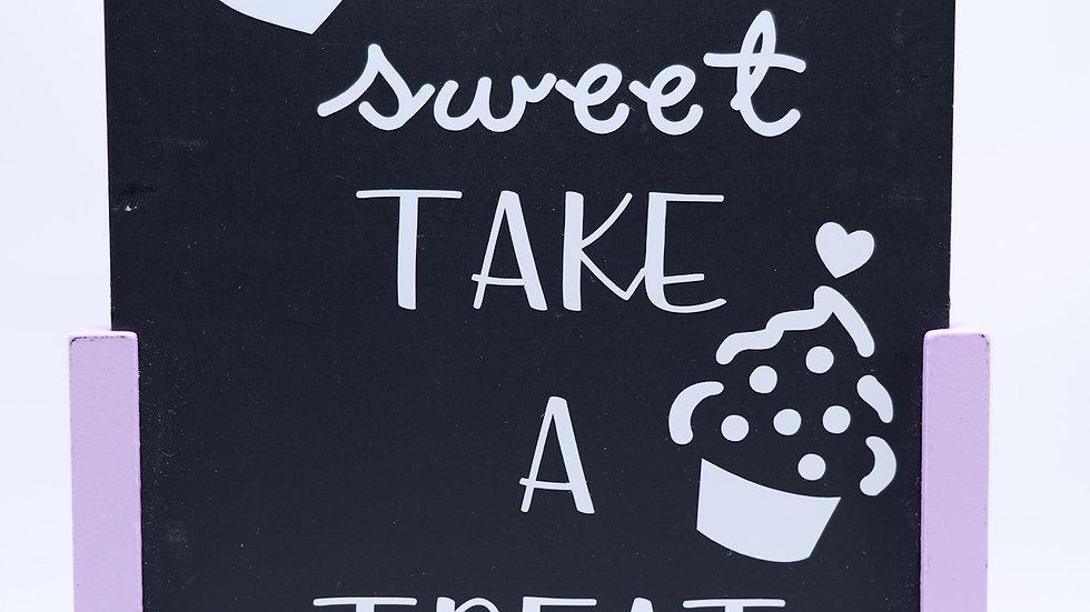 Pastel Accent Chalkboard Sign Rental