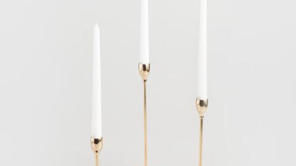 Gold Tapered Candles
