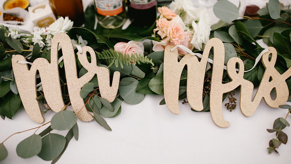 Mr. and Mrs. Sign Rental