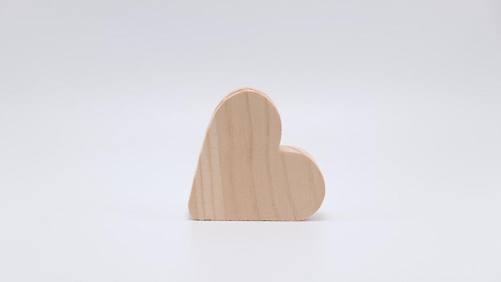 Natural Wood Heart Paper Holder Rental
