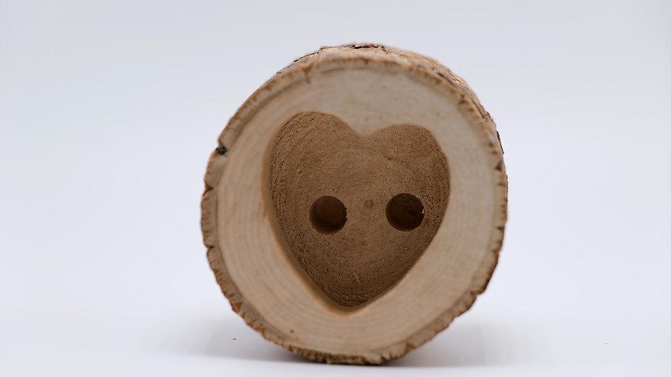 Wood Heart Stump Pen Holder Rental