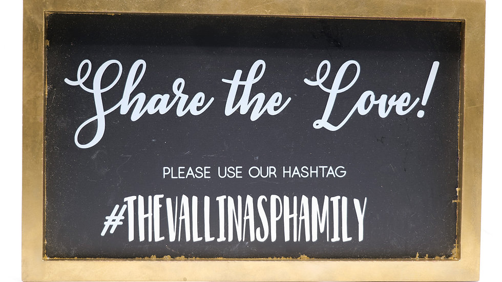 """""""Share the Love"""" Hashtag Sign Rental"""