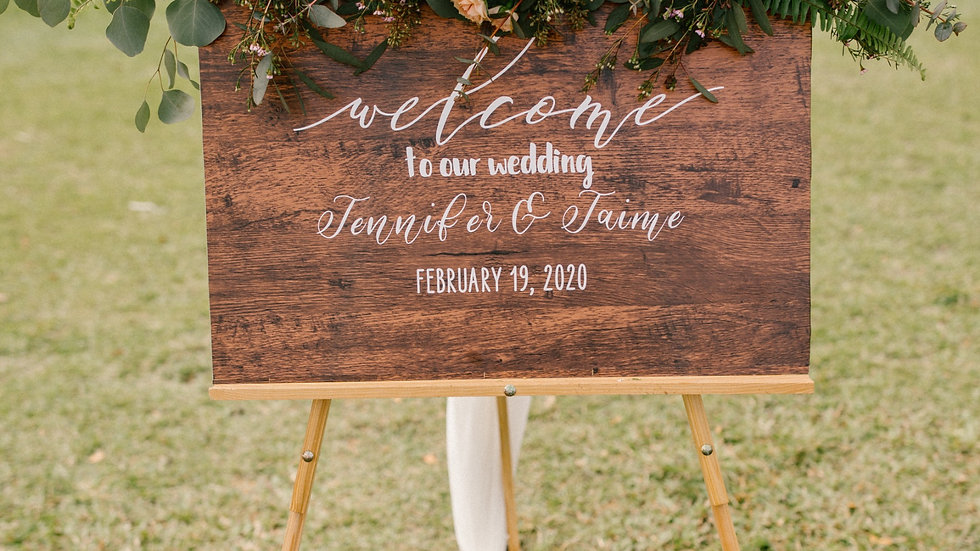 Welcome Sign Rental