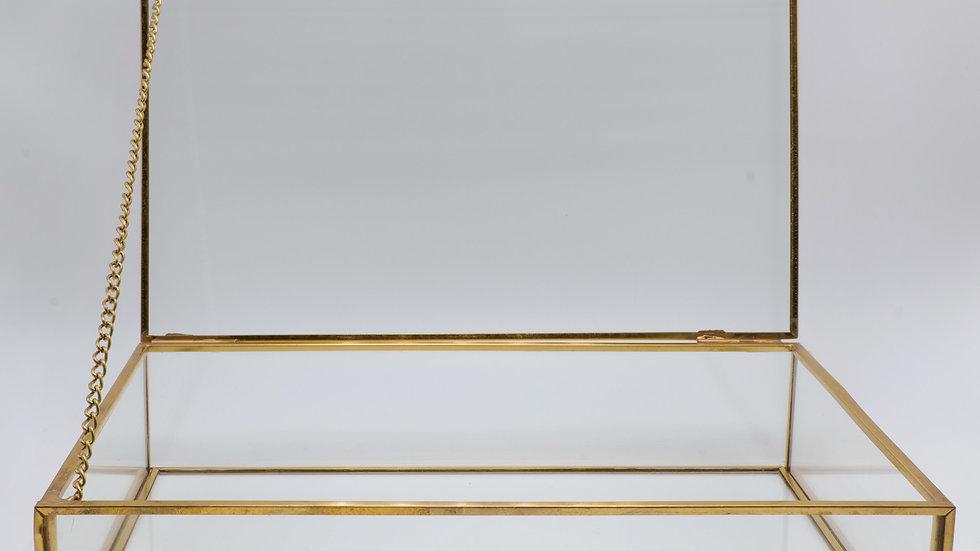 Gold Glass Case Card Holder Rental