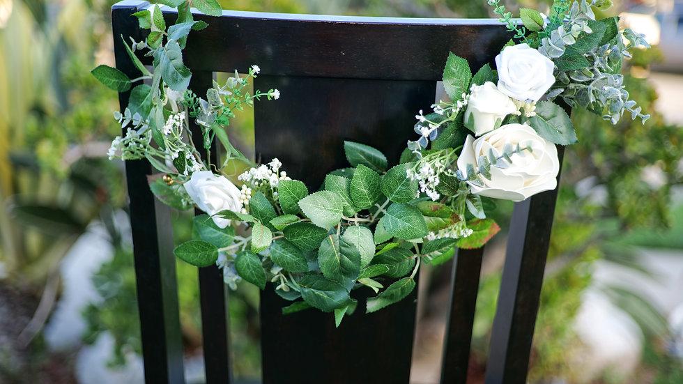 Couples Flower Chair Ornament Rental
