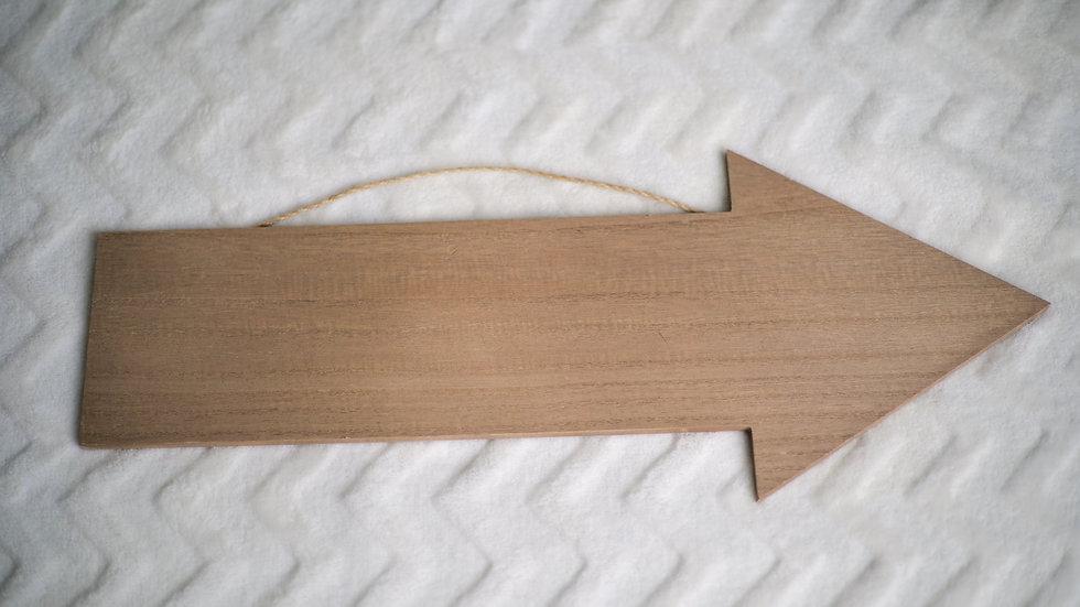 Wooden Arrow Sign Rental