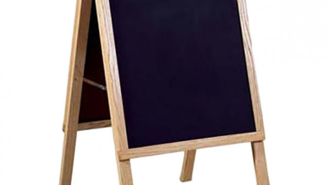 Wooden Chalkboard Easel