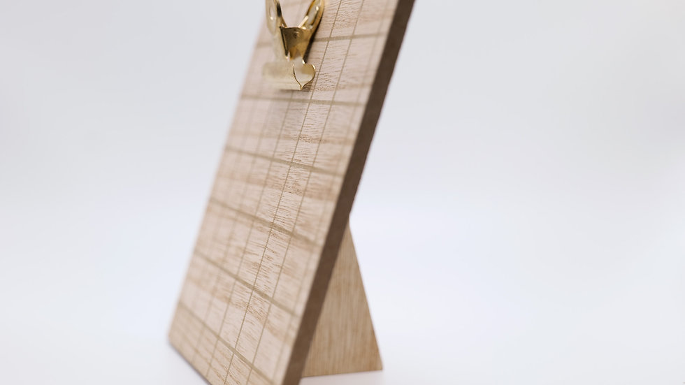 Wooden Clip Sign Holder W/ Gold Accents Rental