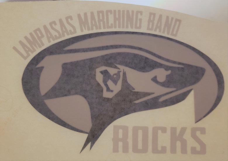 Lampasas Marching Band Rocks Decal