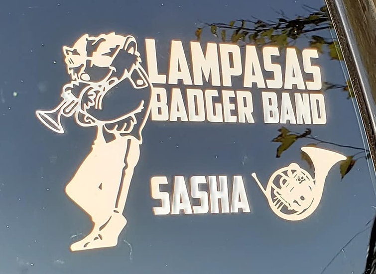 Badger Band Decal