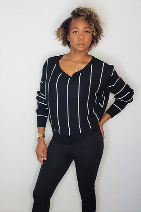 Striped Up Sweater