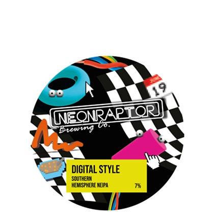 Neon Raptor - Digital Style