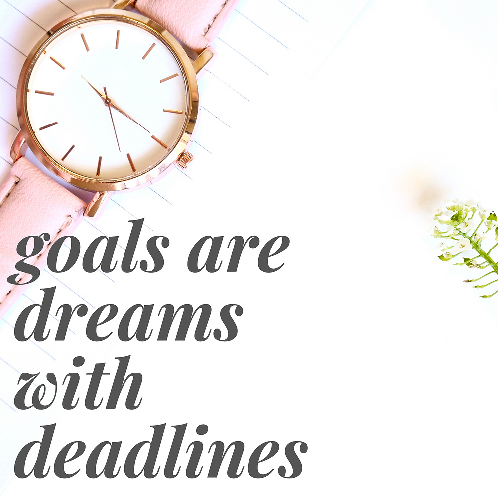 Watch - goals are dreams with deadlines