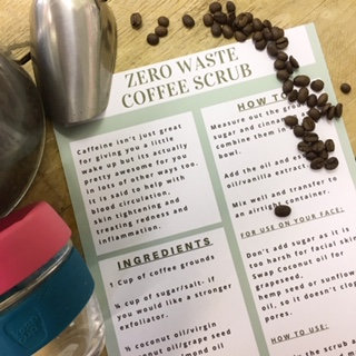 *USE CODE COFFEE01*ZERO WASTE DIY COFFEE SCRUB*