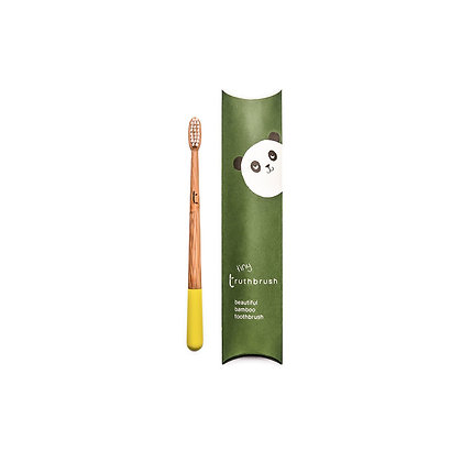 Child Bamboo Toothbrush - Sunshine Yellow - Truthbrush