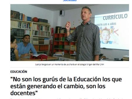 No son los gurús de la educación los que están generando el cambio, son los docentes
