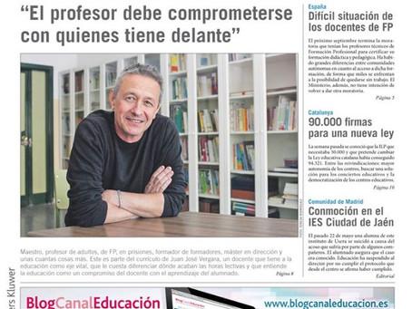 Entrevista en diario 'Escuela'
