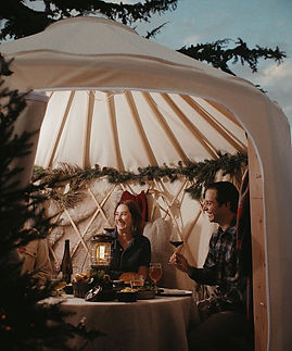 Amex-Yurt-Exterior-Showing-People-Inside