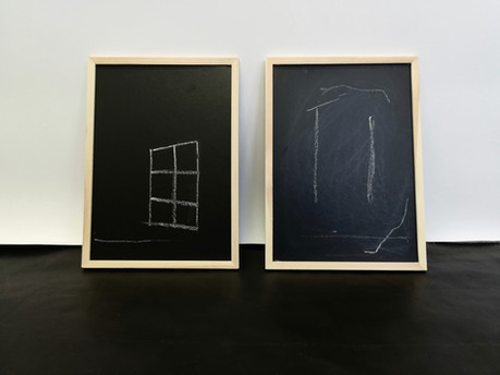 Chalk Board Drawings, 21cm x 28cm, January 2018