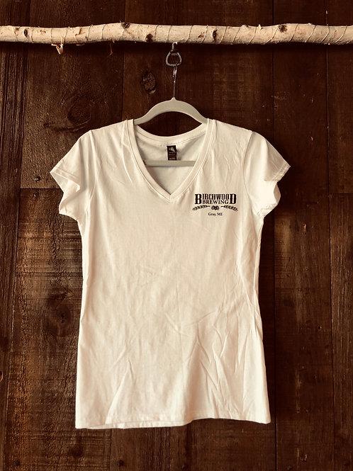 Woman's V-neck White Shirt