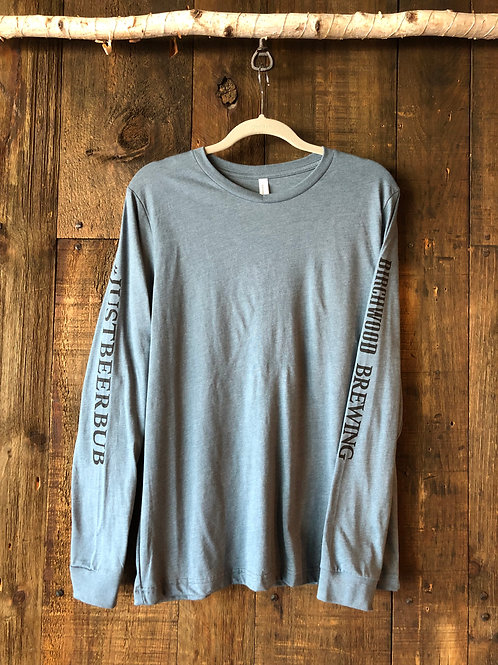 #JUSTBEERBUB Light Gray Long Sleeve Men's Shirt