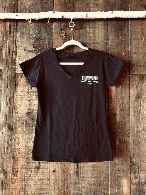 Woman's V-neck Black Shirt